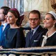 Princesse Victoria, Prince Daniel, Princesse Sofia, Prince Carl Philip - La famille royale de Suède assiste à la session d'ouverture du Parlement à Stockholm, le 10 septembre 2019.