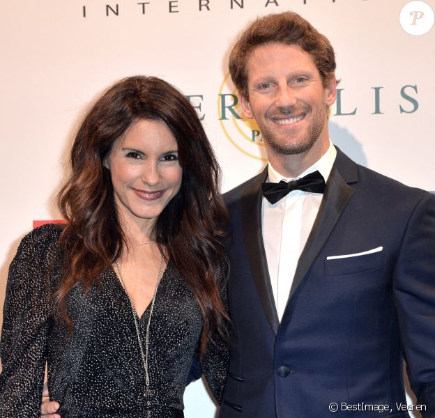 Romain Grosjean et sa femme Marion Jollès - 35ème cérémonie de remise des grands prix du Festival Automobile International à l'hôtel National des Invalides à Paris. © Veeren/Bestimage