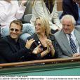 Estelle Lefébure et Arthur à Roland Garros.