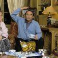 Archives - En France, rendez-vous avec Claude Brasseur et sa femme Michèle à leur domicile. Le 29 janvier 1986. © Michel Marizy via Bestimage