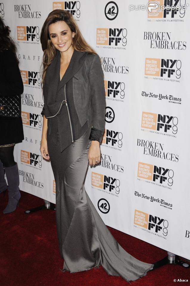 Penélope Cruz lors de la clôture du festival du film international de New York le 11 octobre 2009