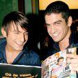Nicolas Vitiello (Whatfor) et Michal (Star Academy 3) - Soirée à L'Etoile pour le 1er anniversaire du magazine Public.