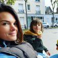 Erika Fleury et ses fils  Etienne et Jonah. Instagram. Le 19 octobre 2020.