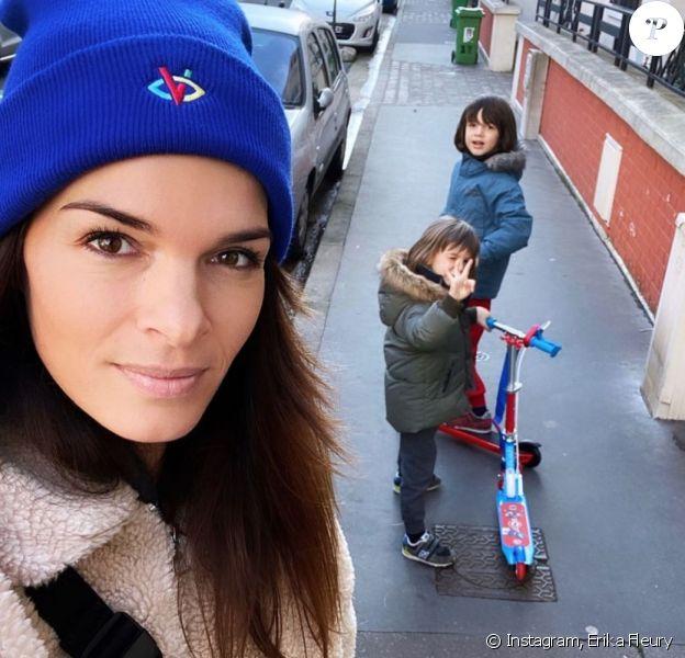 Erika Fleury et ses fils Etienne et Jonah. Instagram.