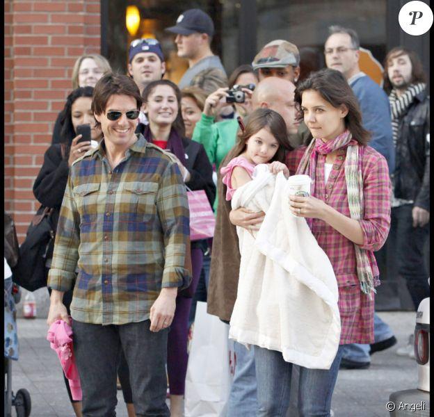 Tom Cruise, Katie Holmes et Suri Cruise à Boston le 11 octobre 2009