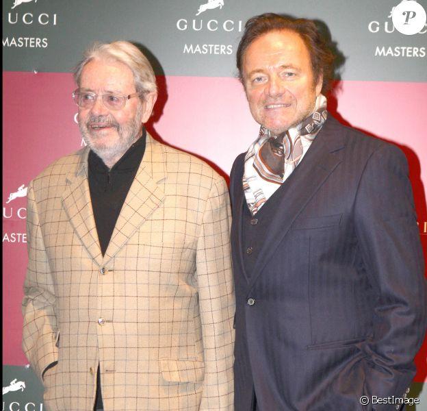 Guillaume Durand et son père Lucien Durand - Soirée Gucci Masters à Villepinte.