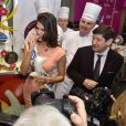 Iris Mittenaere, Miss France 2016 visite le Salon International de l'Agriculture à Paris, le 1er mars 2016.