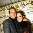 Olivier Siroux et une amie - Soirée Von Dutch au Showroom, Place des Victoires.