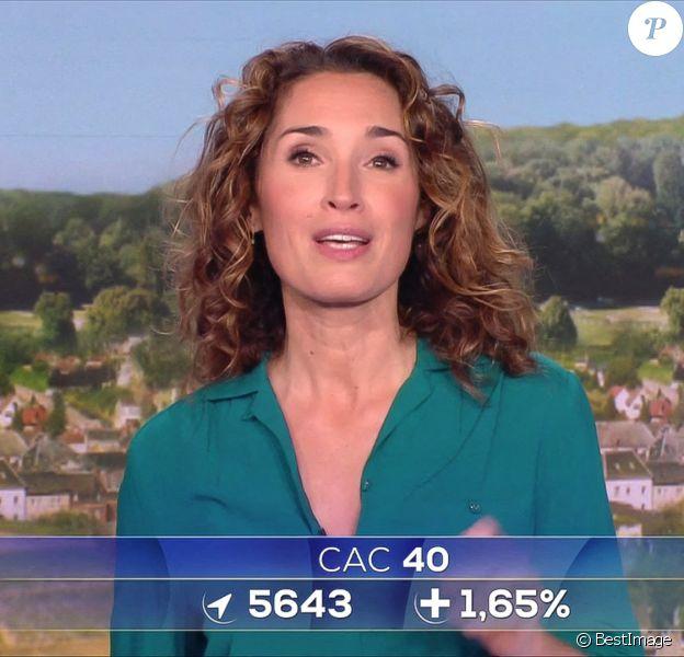 Premier journal de 13h présenté par Marie-Sophie Lacarrau et diffusé sur TF1 en direct.