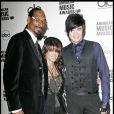 Snoop dogg, Paula Abdul et Adam Lambert à l'annonce des nominations des prochains American Music Award, le 13 octobre 2009 à Los Angeles.