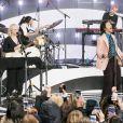 Harry Styles chante au NBC's 'Today' Show au Rockefeller Plaza à New York, le 26 février 2020