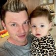 Nick Carter et sa fille Saoirse sur Instagram.