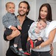 Julie Ricci avec son mari PJ Cabrières et ses fils Gianni et Giovann, janvier 2021