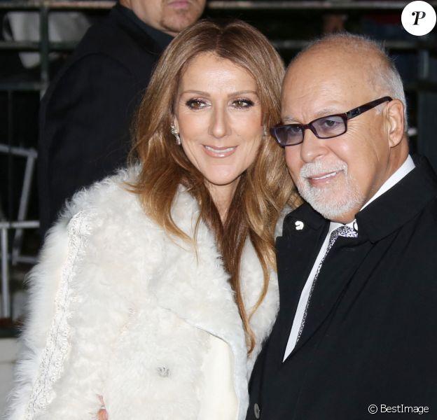"""Céline Dion et son mari René Angélil arrivent à l'enregistrement de l'émission """"Vivement dimanche"""" au studio Gabriel à Paris"""