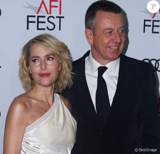 """Gillian Anderson, Peter Morgan - Soirée de présentation de la saison 3 de la série """"The Crown"""" dans le cadre du AFI FEST au TCL Chinese Theatre à Hollywood, Los Angeles."""