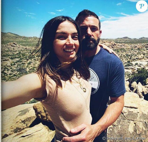 Ben Affleck et sa petite-amie Ana de Armas sur Instagram.