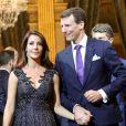 Le prince Joachim de Danemark et la princesse Marie de Danemark - Dîner à l'hôtel de ville de Paris en l'honneur du couple princier du Danemark. © Dominique Jacovides / Bestimage
