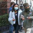 Woody Allen et sa femme Soon-Yi Previn sont allés voter au Marymount Manhattan College pour les élections présidentielles américaines à New York. Le 1er novembre 2020.