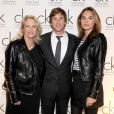Arlette Emch, Thomas Dutronc et Mélanie Maudran lors de la soirée des 5 ans de Calvin Klein bijoux à Paris le 22 octobre 2009