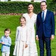 La princesse Victoria de Suède, le prince Daniel, la princesse Estelle, le prince Oscar - La famille royale de Suède se retrouve au palais Solliden pour le Victoria Day, l'anniversaire de la princesse Victoria de Suède à Borgholm, été 2020.