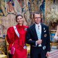 La princesse Victoria de Suède, le prince Daniel - La famille royale de Suède au traditionnel dîner de la cérémonie des Prix Nobel à Stockholm le 11 décembre 2019.