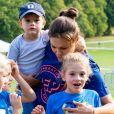 La princesse Victoria de Suède, la princesse Estelle de Suède - Les enfants du prince Daniel participent à la journée Pep au parc Hagaparken à Stockholm, le 8 septembre 2019