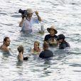 Javier Bardem et Julia Roberts en tournage à Bali le 26/10/09