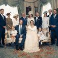 Exclusif - Photo officielle de la famille royale d'Angleterre lors du baptême du prince Louis en la chapelle St James à Londres. Le 9 juillet 2018