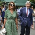 Carole et Michael Middleton - Les personnalités assistent au tournoi de Wimbledon à Londres, le 10 juillet 2019.
