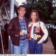 François Feldman et son amie Alexa au tournoi de Rolang Garros en 1994.