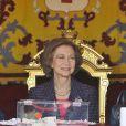La reine Sophia à Madrid pour la journée de la Croix Rouge le 28/10/09