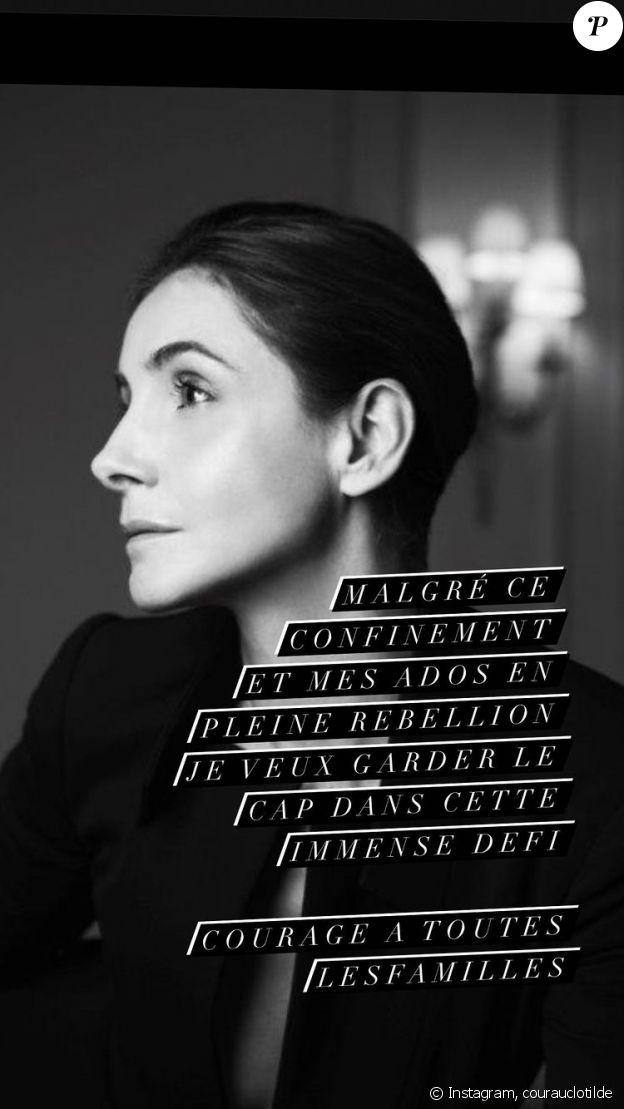 Clotilde Courau évoque sa vie de famille sur Instagram, le 1er avril 2021