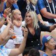 La mère d'Antoine Griezmann, Isabelle Griezmann (mère d'Antoine Griezmann), Erika Choperena (femme d'Antoine Griezmann) et sa fille Mia - Célébrités dans les tribunes lors du match de coupe du monde opposant la France au Danemark au stade Loujniki à Moscou, Russia, le 26 juin 2018. Le match s'est terminé par un match nul 0-0. © Cyril Moreau/Bestimage