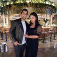 Afshan Azad et son mari  Nabil Kazi sur Instagram. Le 13 août 2020.