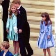 Le prince Harry, la princesse Eugénie et la princesse Beatrice au mariage d'Edward et Sophie à Londres.