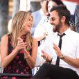 Jennifer Aniston et son mari Justin Theroux à Hollywood, le 26 juillet 2017.