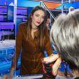 """Exclusif - Delphine Wespiser - Enregistrement de l'émission """"Touche Pas à Mon Poste"""". Le 7 janvier 2021. © Jack Tribeca / Bestimage"""