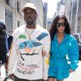 Kim Kardashian et Kanye West à la Fashion Week de Paris.