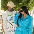 """Kanye West et Kim Kardashian - Arrivées au défilé de mode Homme """"Louis Vuitton"""" à Paris © Olivier Borde / Bestimage"""