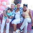 M. Pokora, Christina Milian, leur fils Isaiah et Violet, la fille de Christina Milian.
