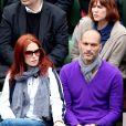 Audrey Fleurot et Djibril Glissant dans les tribunes des internationaux de France de Roland Garros à Paris le 4 juin 2016. © Moreau - Jacovides / Bestimage