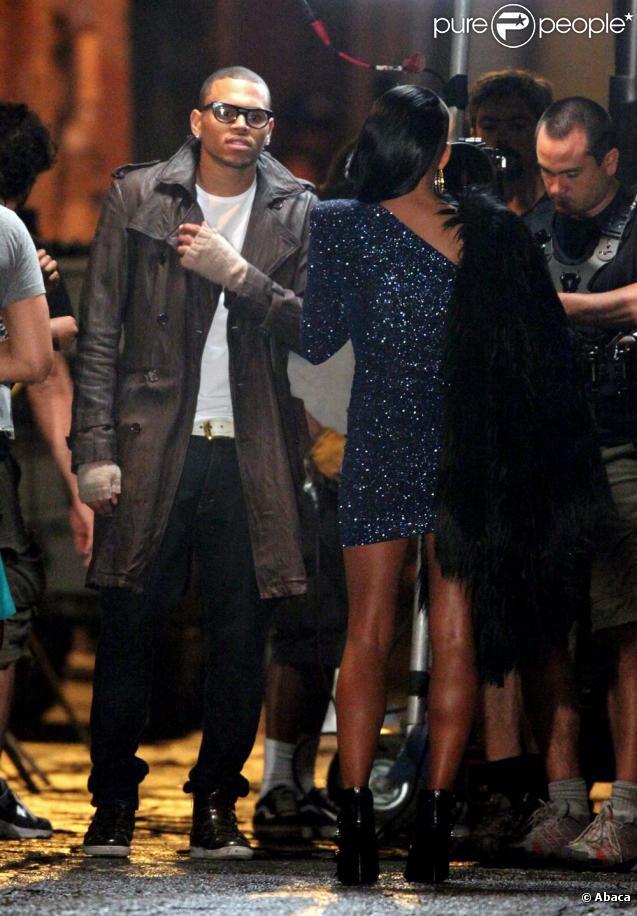 Chris Brown sur le tournage de son nouveau clip en octobre 2009 à Los Angeles.