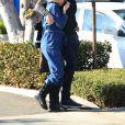 Exclusif - David Oakes et sa compagne Natalie Dormer à Los Angeles, le 8 février 2020.