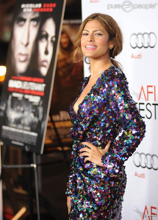 La belle Eva Mendes à l'occasion de l'avant-première de  Bad Lieutenant , dans le cadre de l'AFI FEST, à Los Angeles, le 4 novembre 2009.