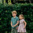Info - La princesse Charlotte de Cambridge fête ses 5 ans - Le prince George de Cambridge et sa soeur la princesse Charlotte de Cambridge lors d'un match de polo de bienfaisance King Power Royal Charity Polo Day à Wokinghan, comté de Berkshire, Royaume Uni, le 10 juillet 2019.