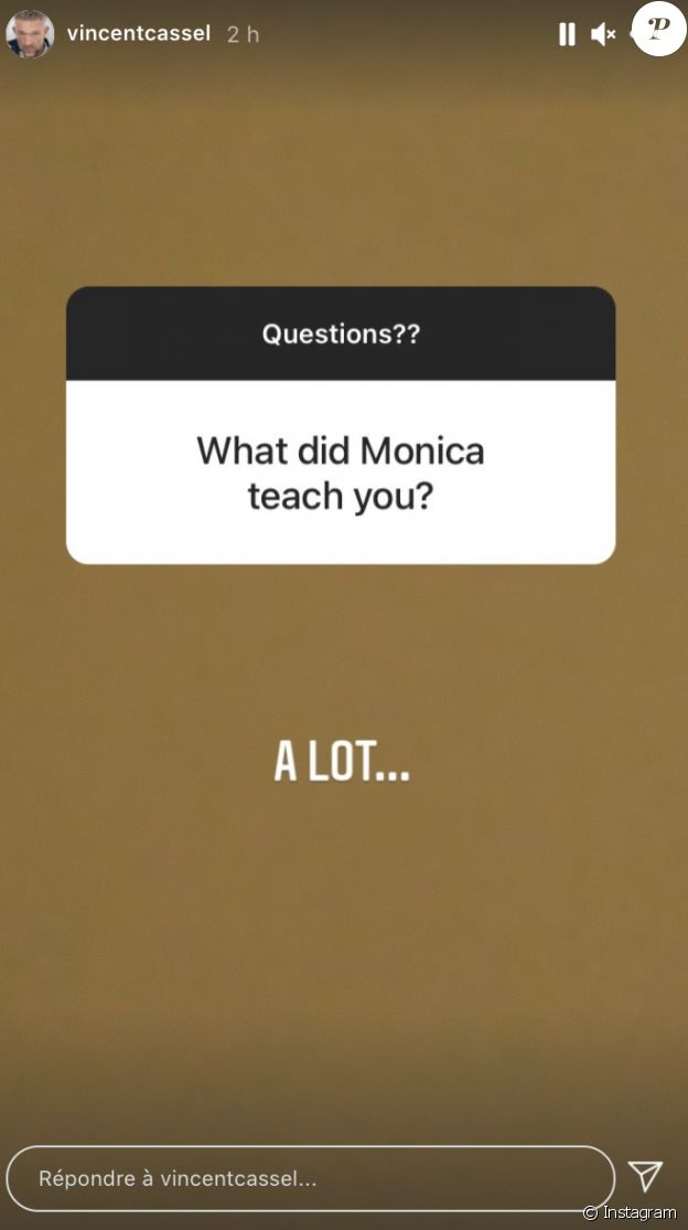Vincent Cassel évoque sa relation avec Monica Bellucci.