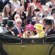 La reine Elisabeth II d'Angleterre et le prince Philip duc d'Edimbourg - La famille royale arrive aux courses du Royal Ascot 2015 le 19 juin 2015.