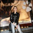 Frédérique Bel, ambassadrice Lancel, semble bien s'amuser au Gala de la Truffe, à la maison Lancel. 16/11/09