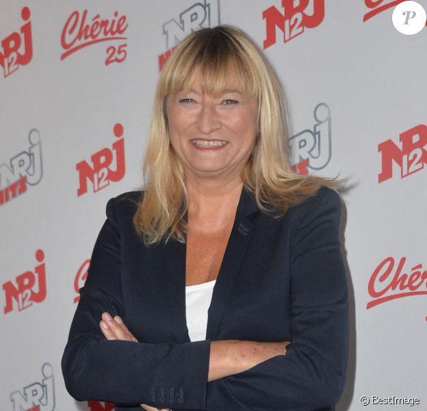 Christine Bravo - Conférence de presse de la grille de rentrée des chaînes NRJ12, NRJ Hits et Chérie 25 à la Cour du Marais à Paris