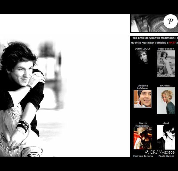 Myspace de Quentin Mosimann, gagnant de la Star Ac 7